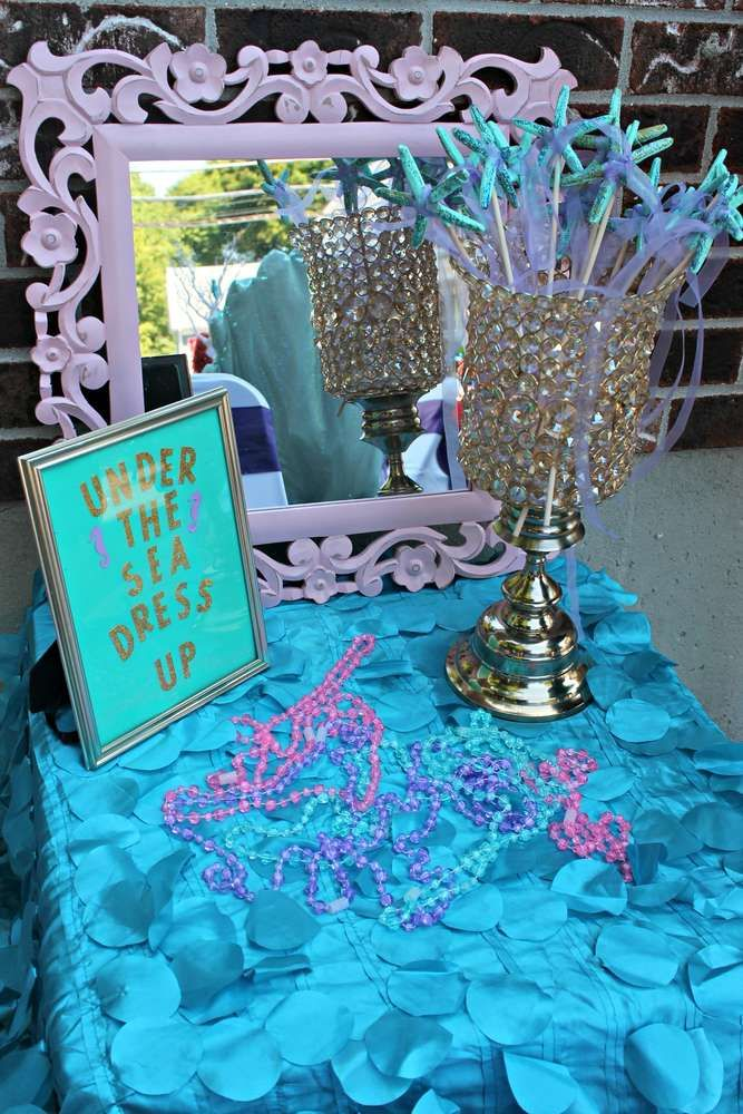 Mermaids, Ariel, pirates Birthday Party Ideas