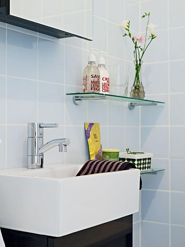 Soluções mínimas para banheiros pequenos