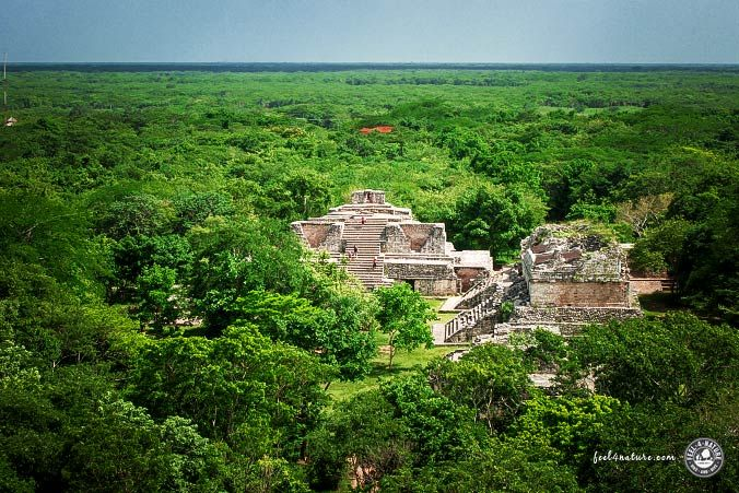 Ek Balam Ausblick - Maya Kultur - Wandern in Mexiko