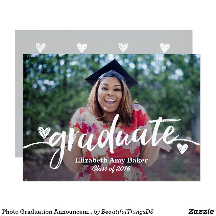 Photo Graduation Announcement 5x7 Card 21 best