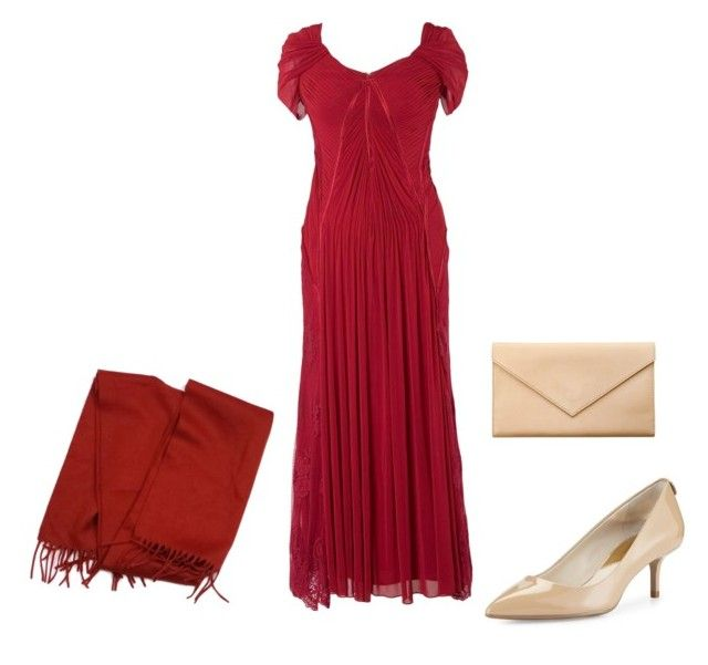 """""""Natalie"""" by noonie2-1 ❤ liked on Polyvore featuring Chesca, MICHAEL Michael Kors, Loro Piana, Carré Royal and plus size dresses"""