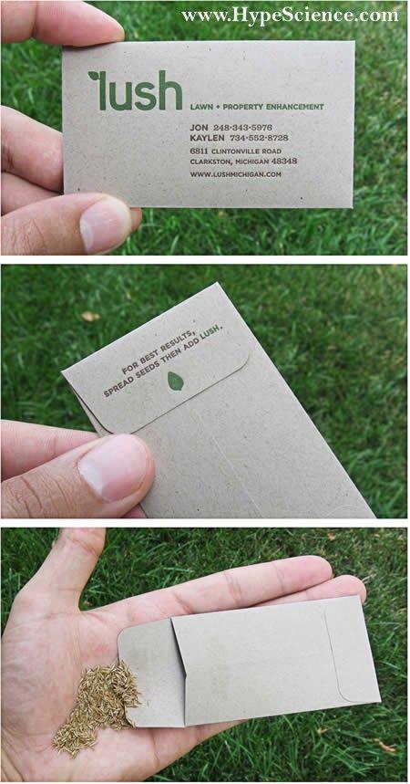 Cartão de visitas de um paisagista