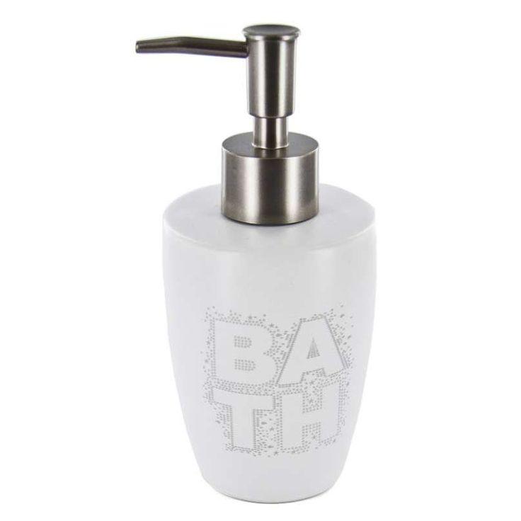 Disponible sur Boutiquedubain.com ! Distributeur de Savon Bath Blanc 16cm