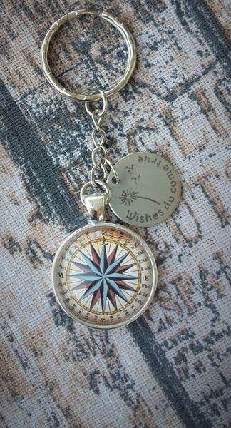 """Herren-Accessoires - Schlüsselanhänger """"Maritim - wishes do come true"""" - ein Designerstück von Love-design bei DaWanda"""