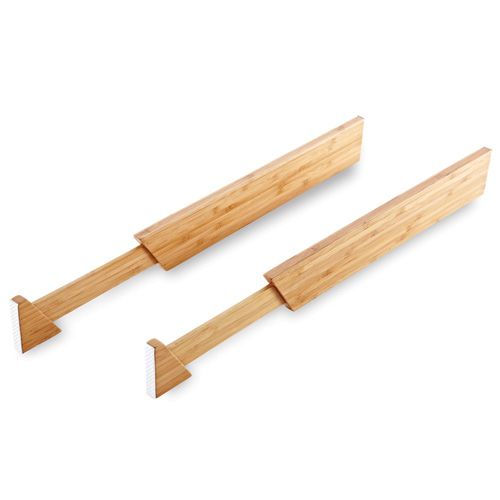 Bamboo Adjustable Drawer Dividers - The Pampered Chef®