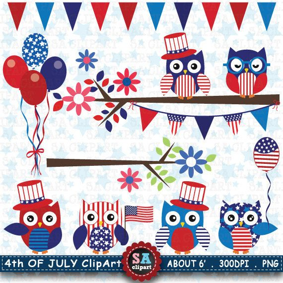 4th of July ClipArt Fourth of July 4th of July by SAClipArt