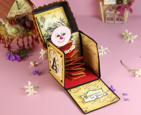Make Sue Smyth's Jack-in-the-Box card from Australian Simply Cards 39