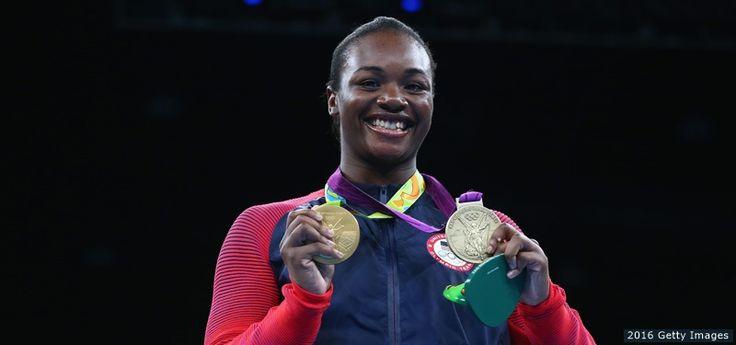 claressa Shields, USA vann guldet i damernas boxning mellanvikt 69-75kg, silver Nouchka Fontijn, Nederländerna, brons Dariga Shakimova, Kazakstan och Li Qian, Kina.