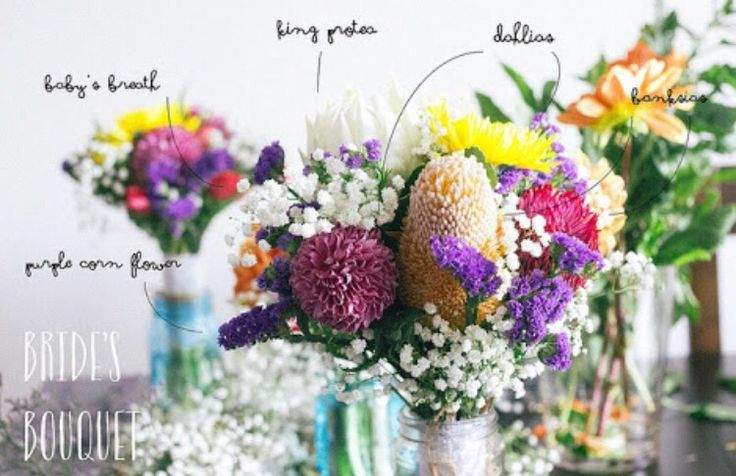 Baby's breath with Australian natives for Bride's bouquet