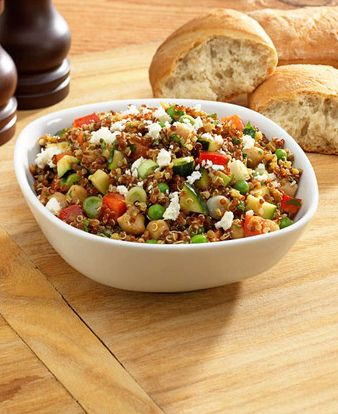 This Curried Quinoa Salad is a quick and easy healthy meal that makes great leftovers and doesn't require a big kitchen. Make a giant batch and keep it in a tupperware to fuel you through the week. Find ingredients and kitchen supplies at Walmart.