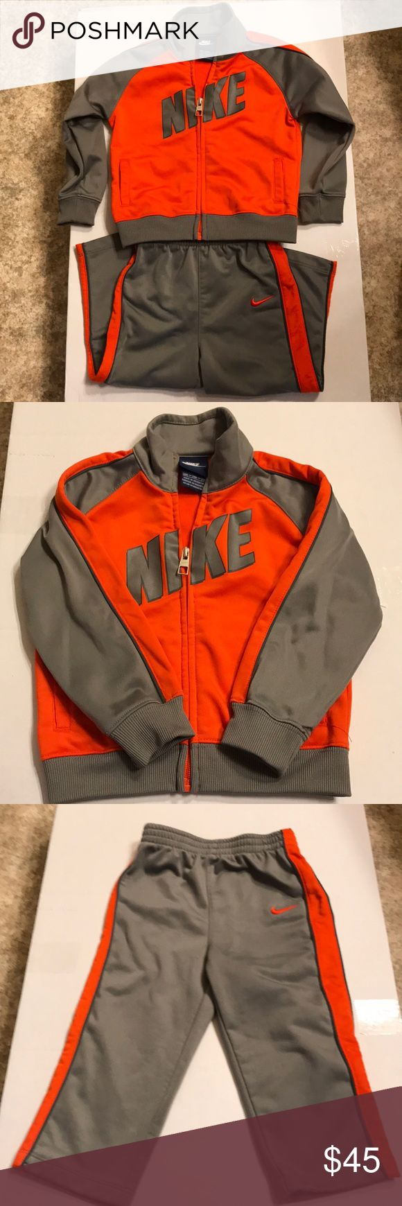 Orange and gray Nike jogging suit Toddler jogging suit Nike Matching Sets