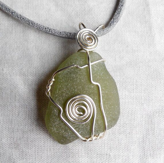 Genuine Irish sea glass necklace. made in Ireland by terramor