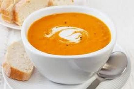 Perfect for halloween! - I like to serve mine in a pumpkin! Sweet Potato and Pumpkin Soup - Real Recipes from Mums