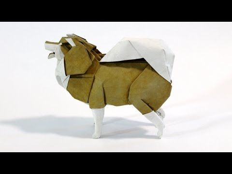 How to make an Origami Finnish Lapphund - YouTube