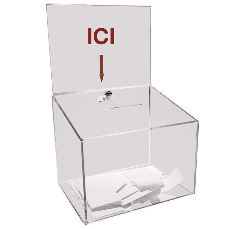 Doublet : vente urne boîte à idées en plexiglass
