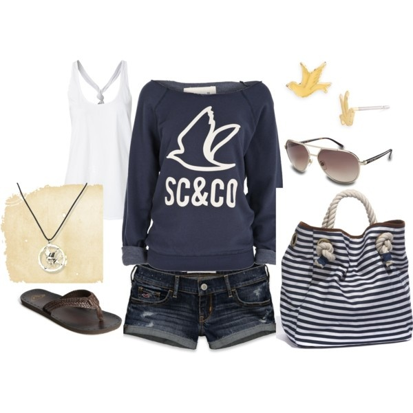 """""""beach bummin'"""" by kristafliss on Polyvore: Summer Fashion, Beaches Bummin, Summerspr Clothing, Summer Outfits, Clothing Shoes Jewelry Scarfs, Summer Spr Clothing, Style Hair Makeup Clothing, Beaches Wear, Clothing Fashion"""