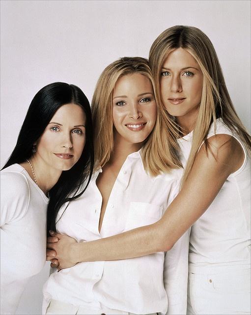 """Courtney Cox, Lisa Kudrow and Jennifer Aniston, """"Friends"""""""