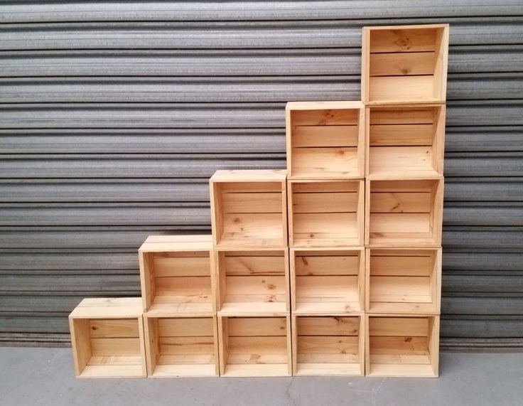 TIMBER CRATE WOODEN FRUIT BOX $18 each