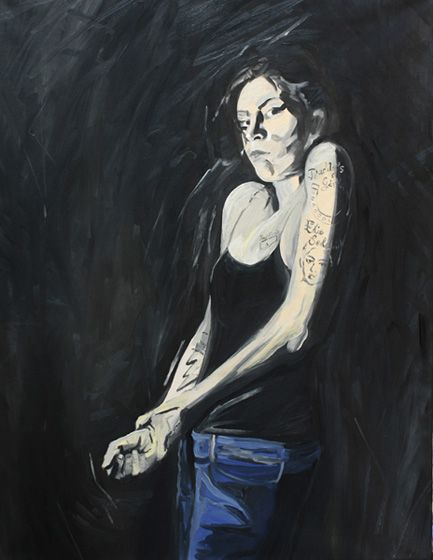 Me as Amy I, 2009, oil on canvas, 116 x 89 cm   / Ja jako Amy I, 2009, olej na płótnie, 116 x 89 cm
