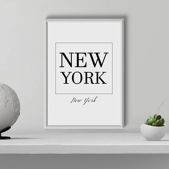 New York Typography Print New York wall art New York Poster