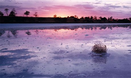 The Pink Lakes, Wimmera, western Victoria, Australia
