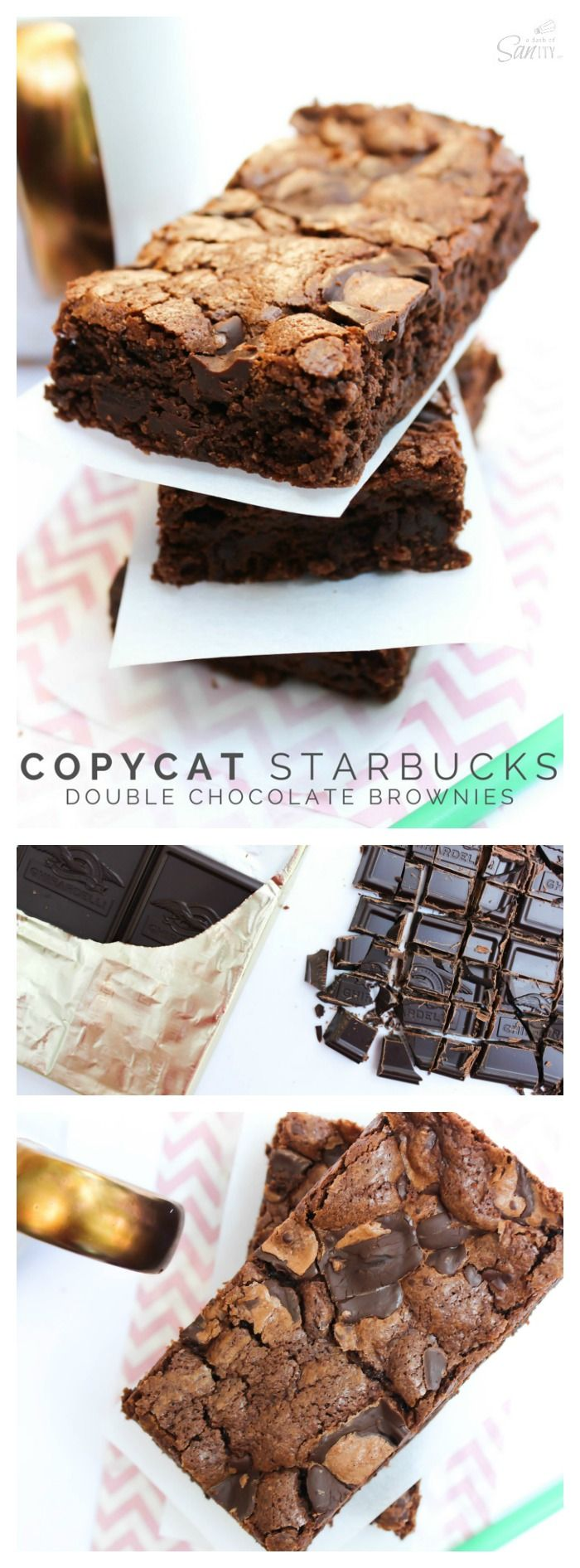 Copycat Starbucks Double Chocolate Brownies