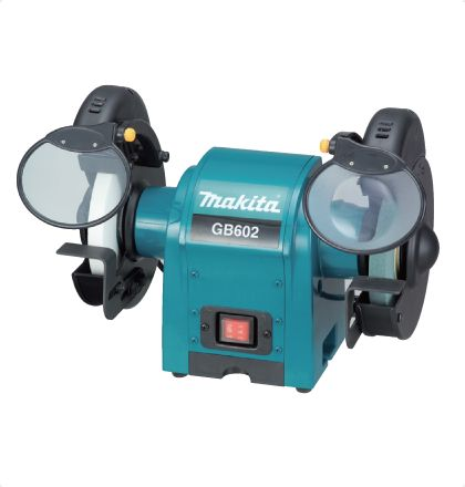 Makita GB602 Bench Grinder     Steady tool maintenance from this light, yet stable performer.     Cosmetic new design.     2 bulbs ease your grinding jobs. For More Details: http://www.mrthomas.in/makita-gb602-bench-grinder_69
