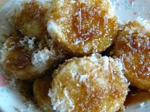 Lupis (Indonesian Sweet Sticky Rice Dumplings). Over the top!