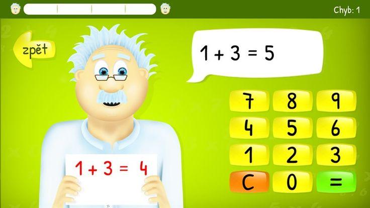 sCool Math. Česká aplikace s doktorem Popletou, který učí děti počítat. Dělení a odčítání jsou zamčená a dostupné pouze za poplatek. Ostatní funkce jsou zdarma.