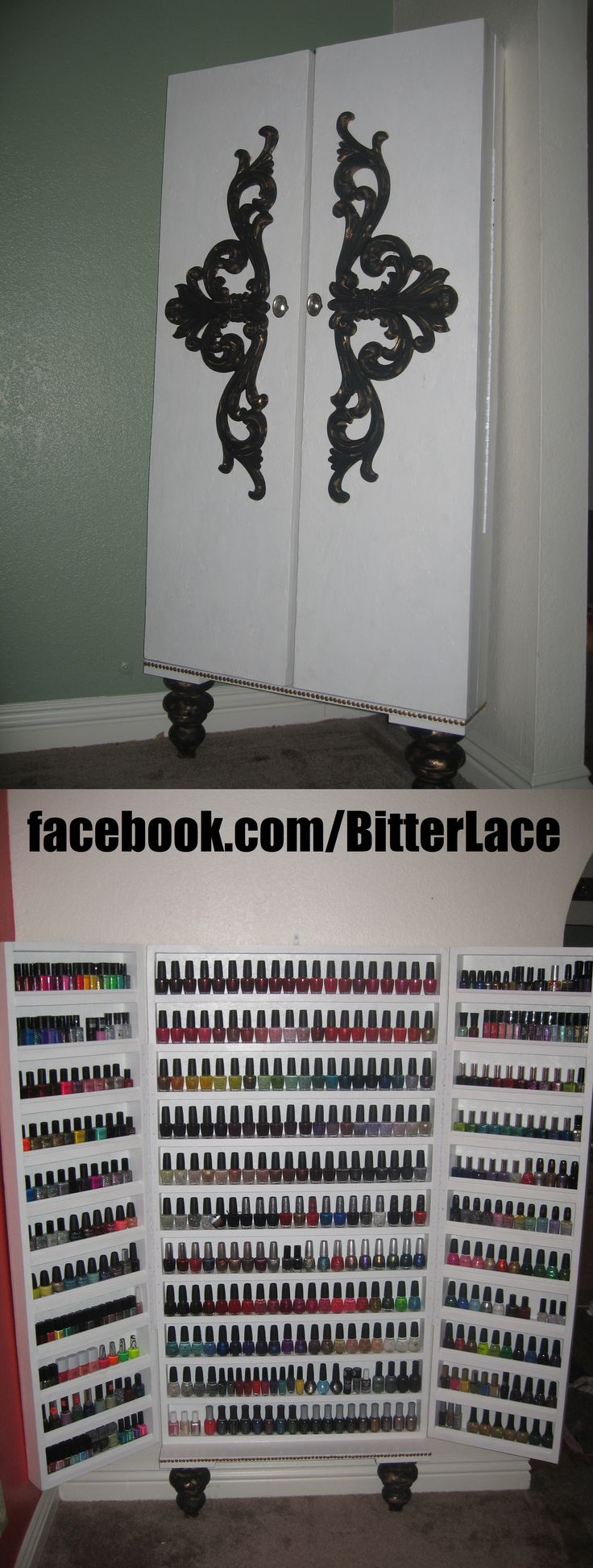 custom made nail polish rack for the nail polish lovers!!!
