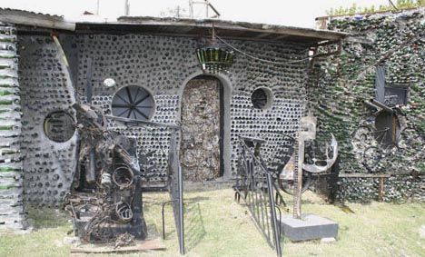Recycled glass house made from 6 million bottles, seriously!!!