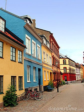 Street from the old town of Malmo – Sweden