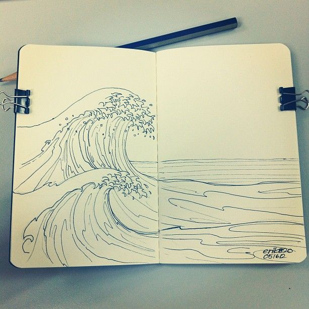 May16, 2012 Drawing: Waves                                                                                                                                                                                 More