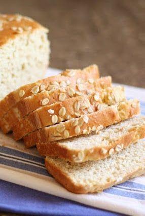 Honey and Oat Gluten Free Sandwich Bread - get the recipe at barefeetinthekitchen.com