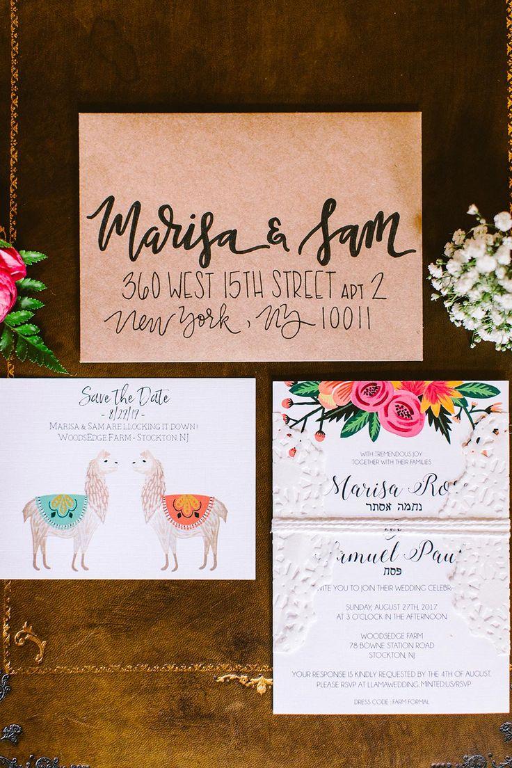 diy wedding invitations for second marriage%0A Boho   Fun  Vibrant DIY Wedding on a Llama Farm  llamasinweddings   colorfuldiywedding