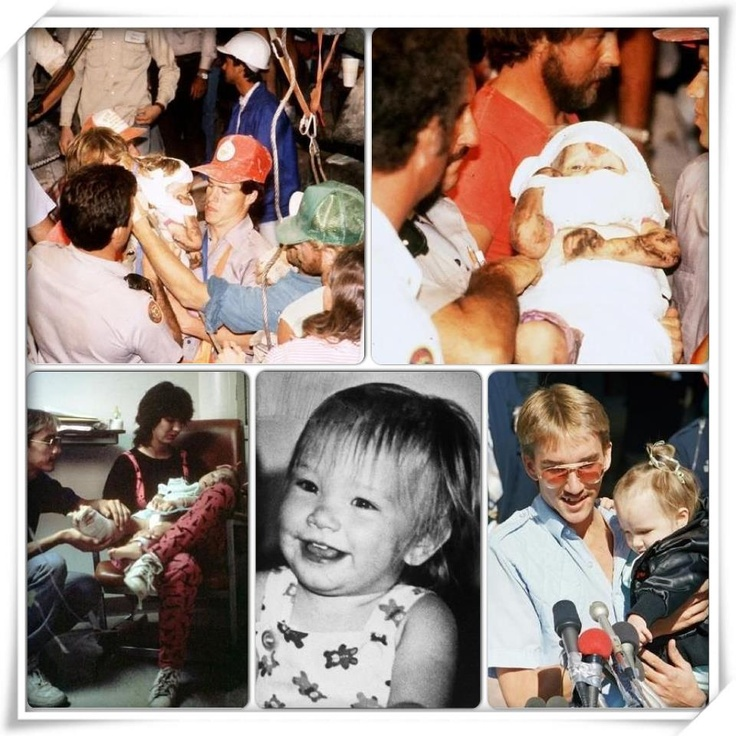 25th Anniversary of the Rescue of Baby Jessica Jessica McClure was rescued from a Texas well, after 2 days, on October 16th, 1987