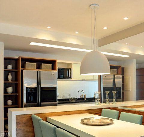Aprenda a escolher o lustre para a sala de jantar. Fotos publicadas na revista MINHA CASA.