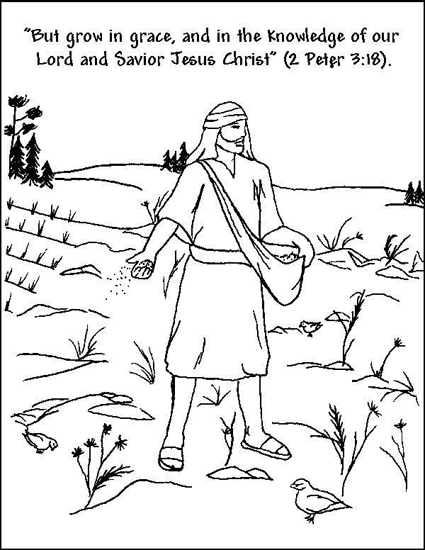Coloring pages farmer planting seeds coloring pages for Planting seeds coloring pages