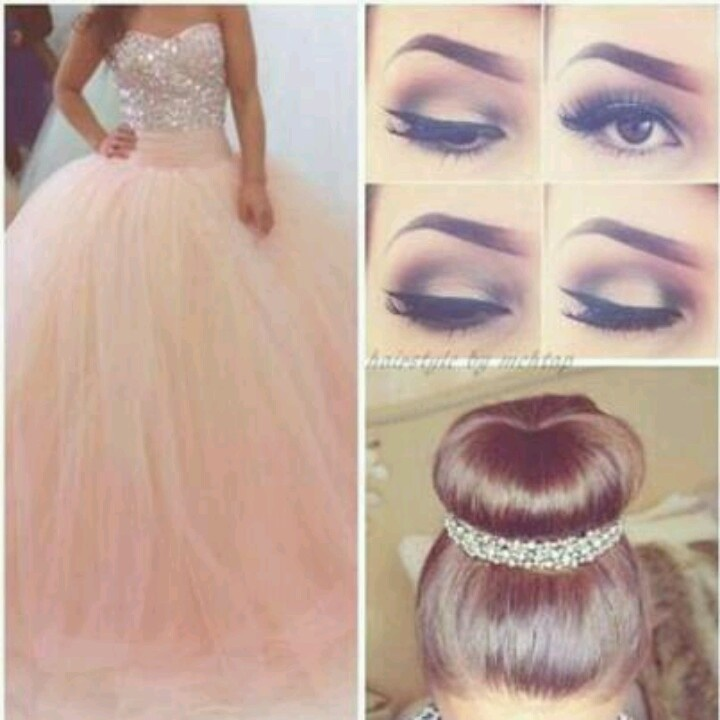 Peach Dress for Prom Makeup
