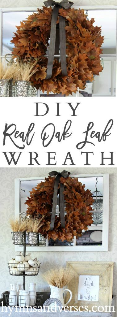 Real Oak Leaf Wreath - Hymns and Verses