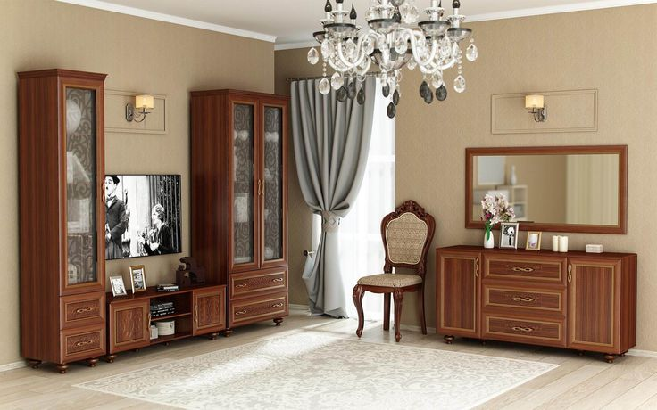 Купить Александрия «Орех» - Гостиные в Москве | Цена, размеры, инструкция по сборке, отзывы | Интернет-магазин мебели «Любимый Дом»