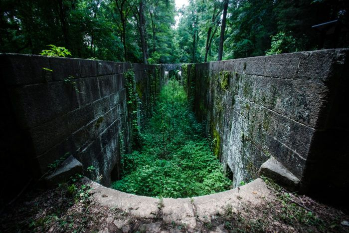 Stretching out beside the Catawba River, this old canal is truly a unique exploration spot.