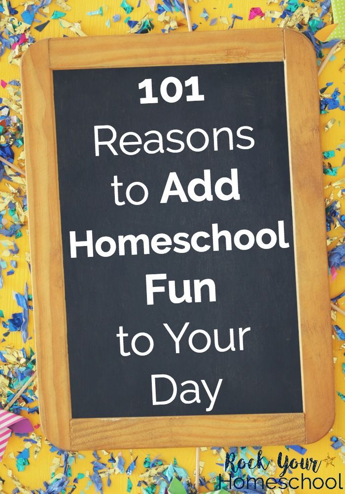 Wonder if adding fun to your homeschool is important? Learn more about homeschool fun, why it\'s important, & these 101 reasons to get started today. #homeschoolfun