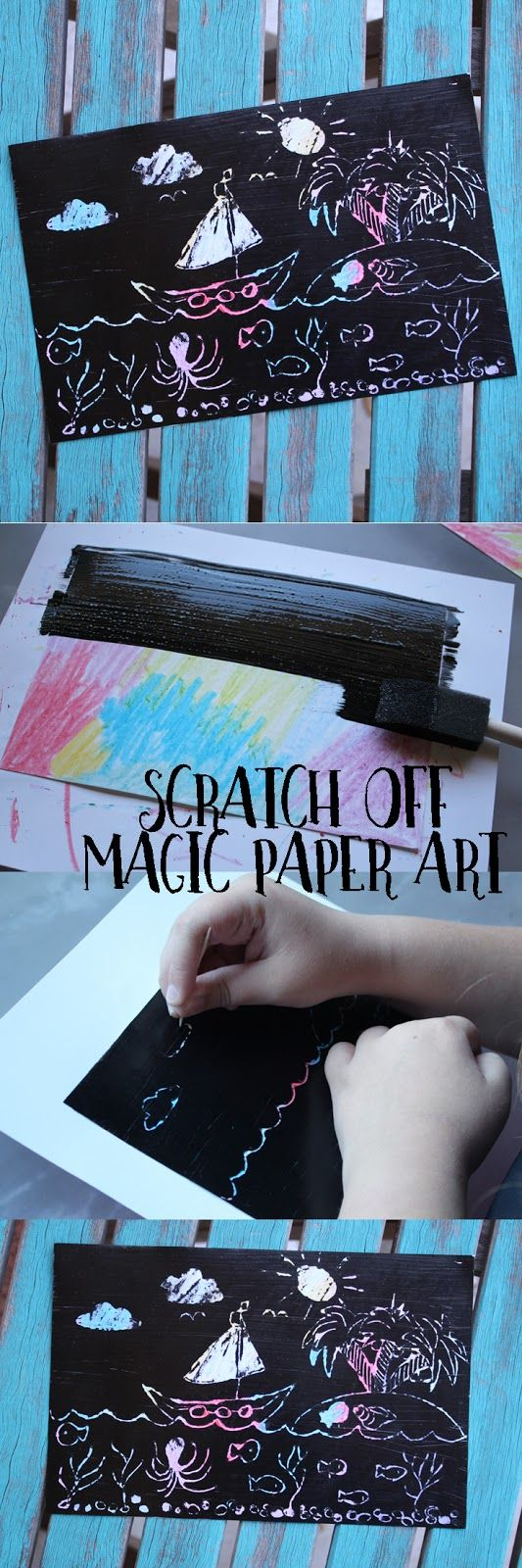 Scratch off magic paper art is an easy and fun craft for kids of all ages. It's so cool!