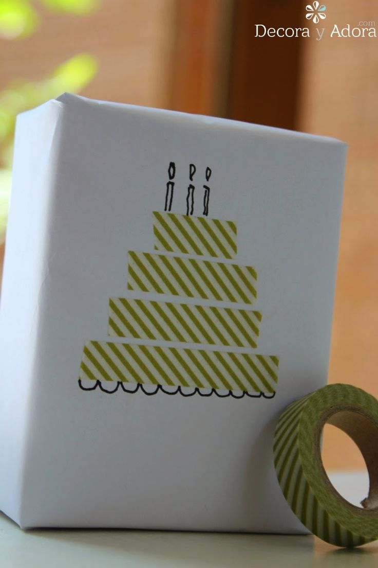 Easy gift wrapping with washi tape