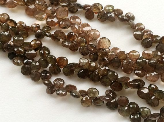 Andalusite Faceted Heart Beads Natural Faceted by gemsforjewels