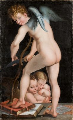 """Målningen """"Amor täljer sin båge"""" av Francesco Mazzola """"il Parmigianino"""""""