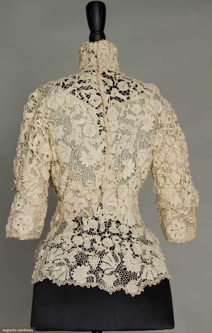 Irish Crochet short Jacket, c. 1915 Back