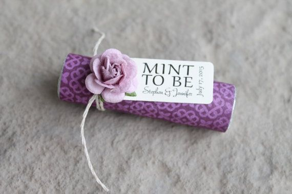 This listing is for 24 personalized MINT TO BE wedding favors. You will receive the favors completely ASSEMBLED and ready for your guests.