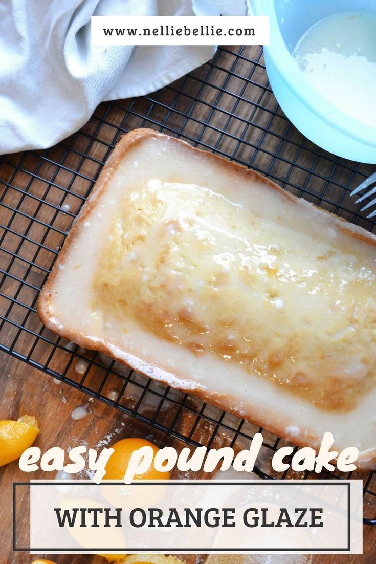 """easy pound cake with orange glaze. The classic recipe that was the reason it is called """"pound cake"""""""